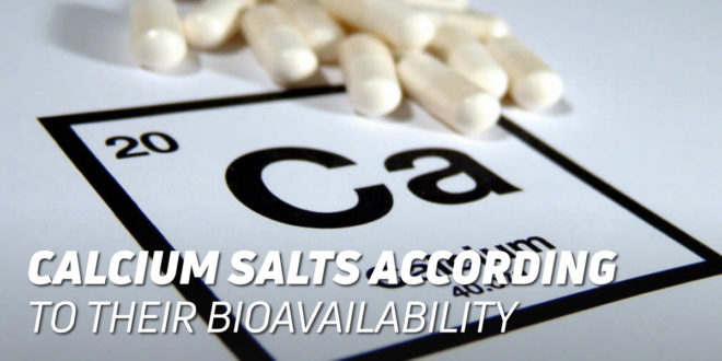 Calcium Salts according to their Bioavailability