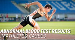 Abnormal blood test results in athletes