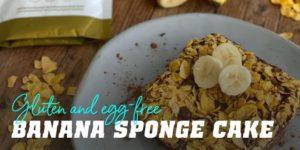 Banana sponge cake