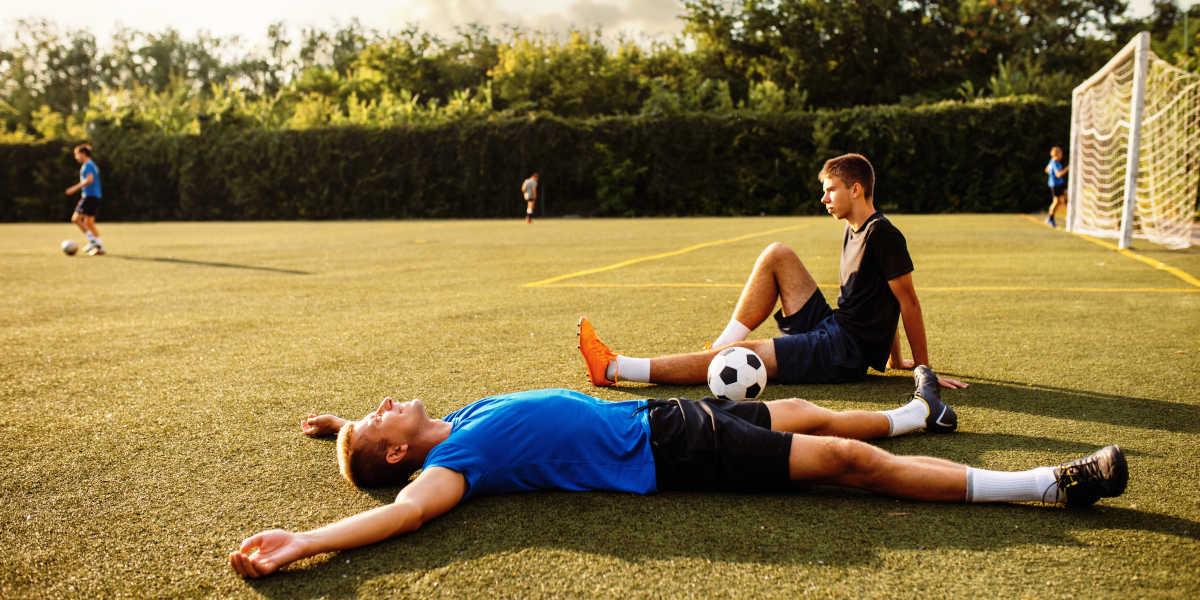 How do vitamins help footballers?