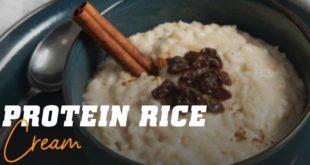 Protein rice cream