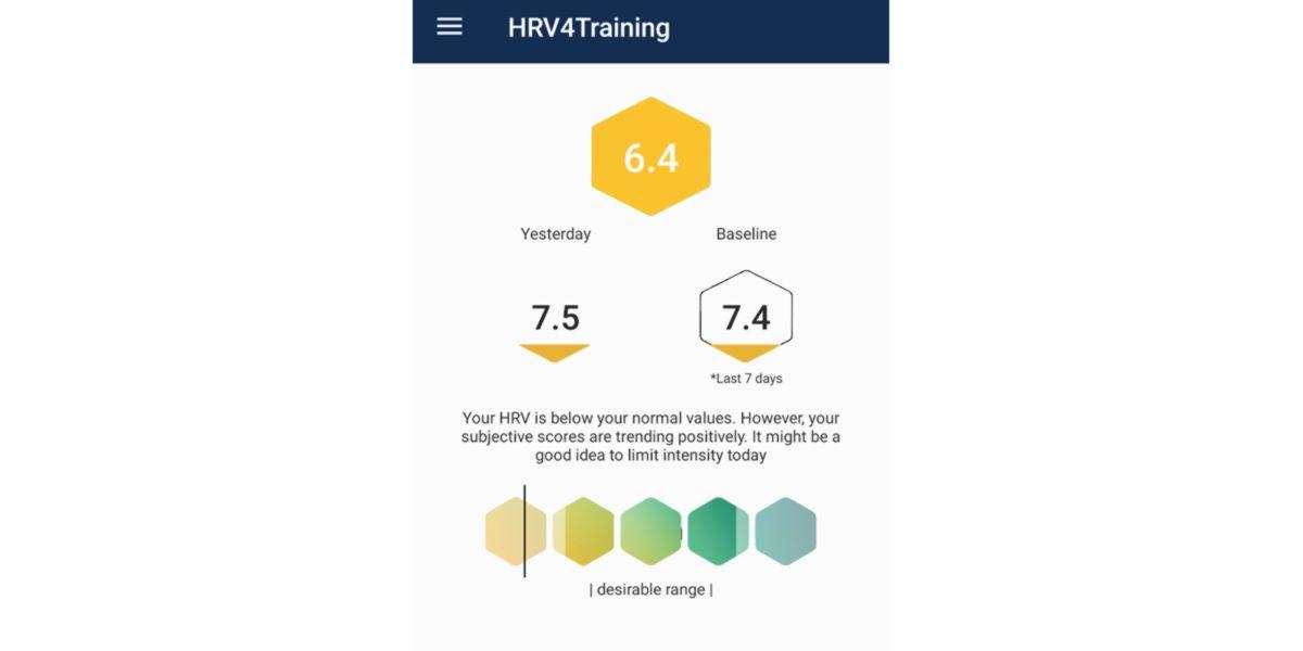 App HRV result