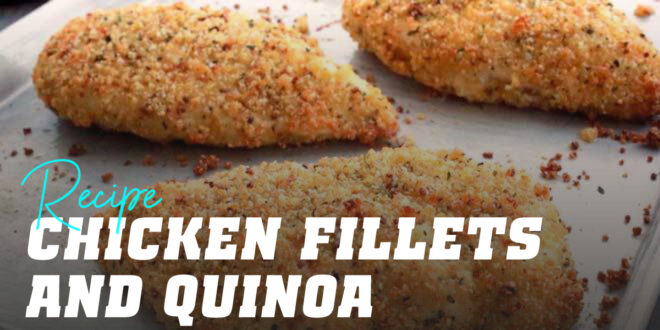Crispy Chicken Fillets with Quinoa