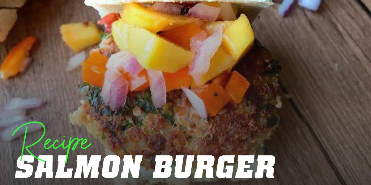 Salmon and Mango Burger