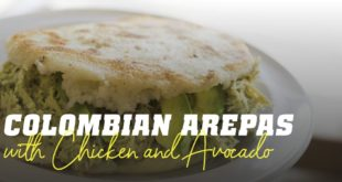 Arepas with chicken avocado