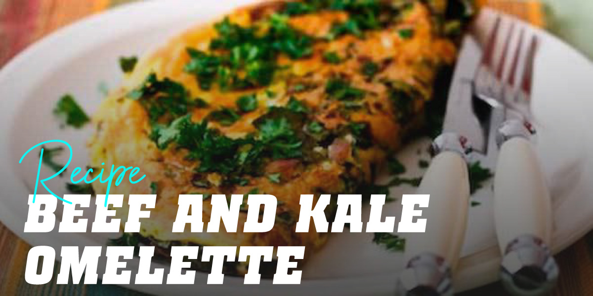 Beef and Kale Omelette