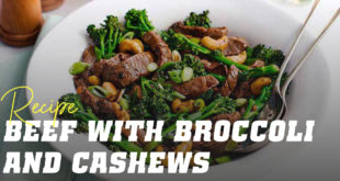Beef with broccoli and cashews