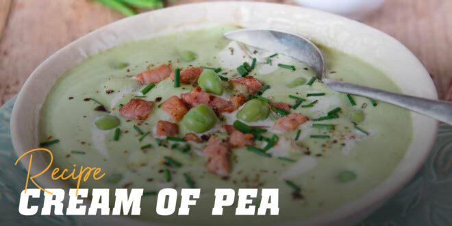 Creamed Pea Soup with Turkey
