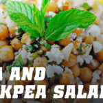 Feta and chickpea salad