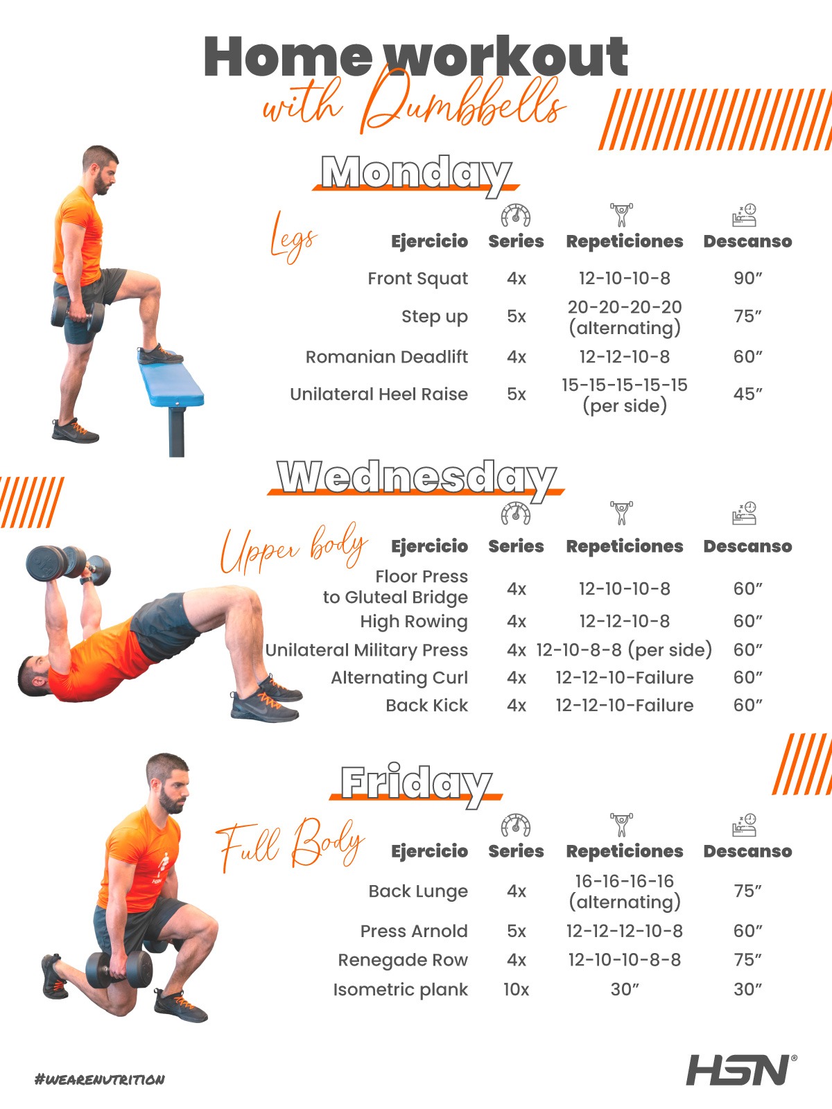 Home Training with Dumbbells. Month 2 and 3