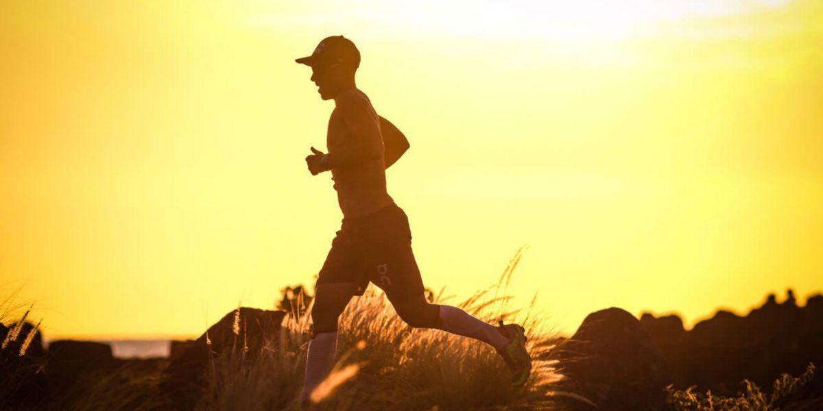 Runners training heat