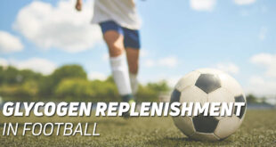 Glycogen replenishment in football