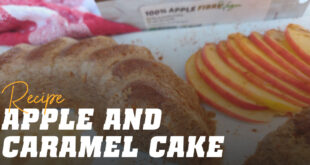 Apple and Caramel Sponge Cake