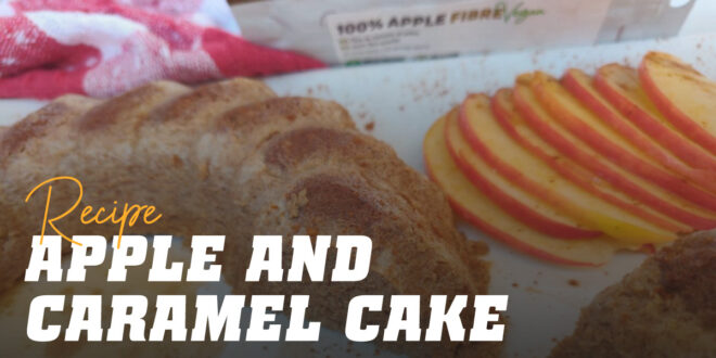 Apple and Caramel Sponge Cake
