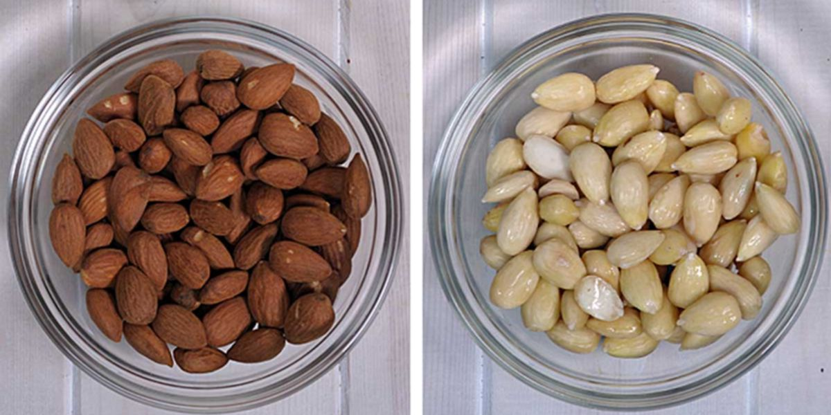 RAW almonds vs Blanched almonds