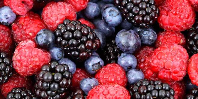 Berries Rich in antioxidants