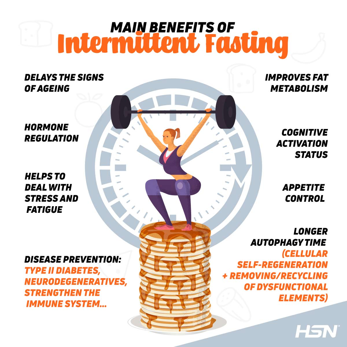 Main benefits of intermitent fasting