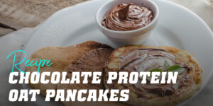 Chocolate Protein Oat Pancakes