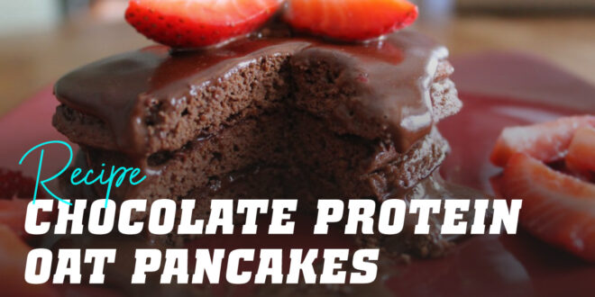 Oat Pancakes with Protein Chocolate Spread