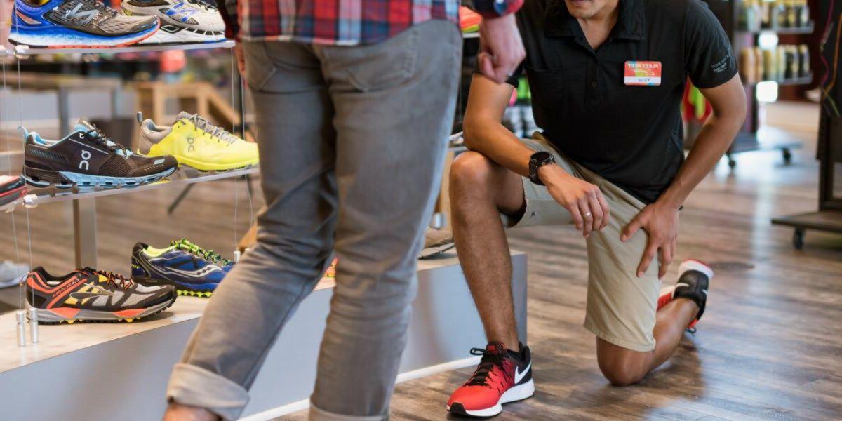 Sports footwear shop