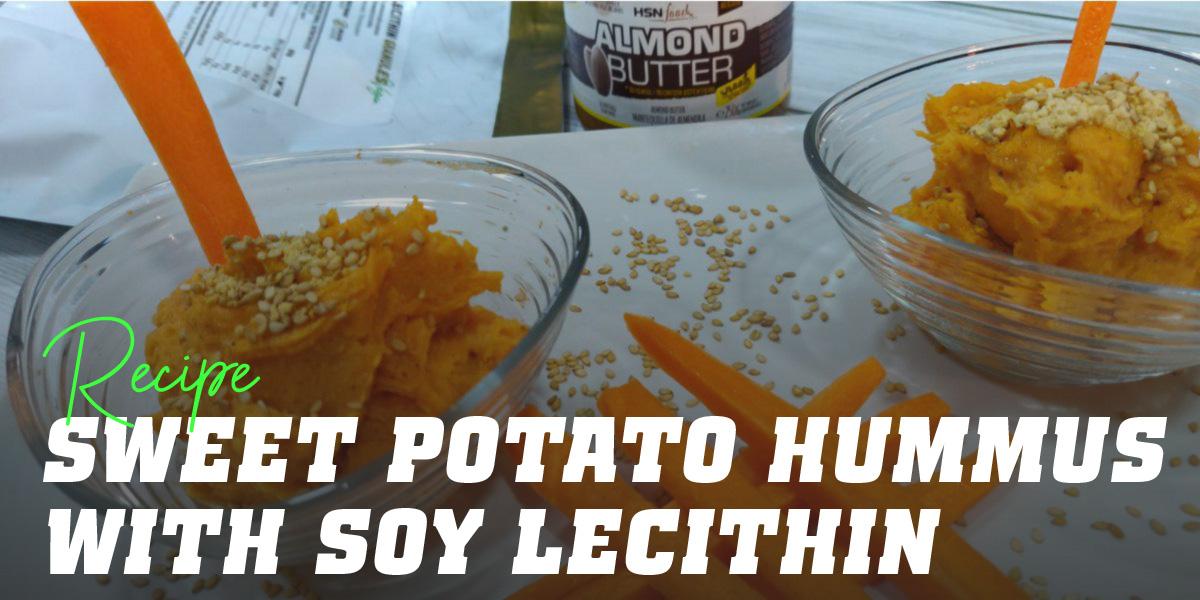 Sweet Potato Hummus with Soy Lecithin