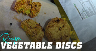 Vegetable discs with soy lecithin