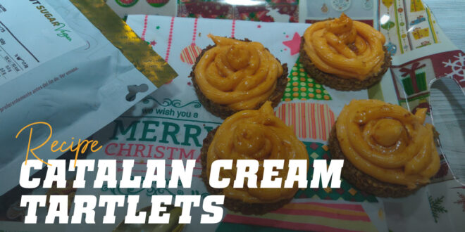 Crema Catalana Tartlets, A High-Protein Dessert