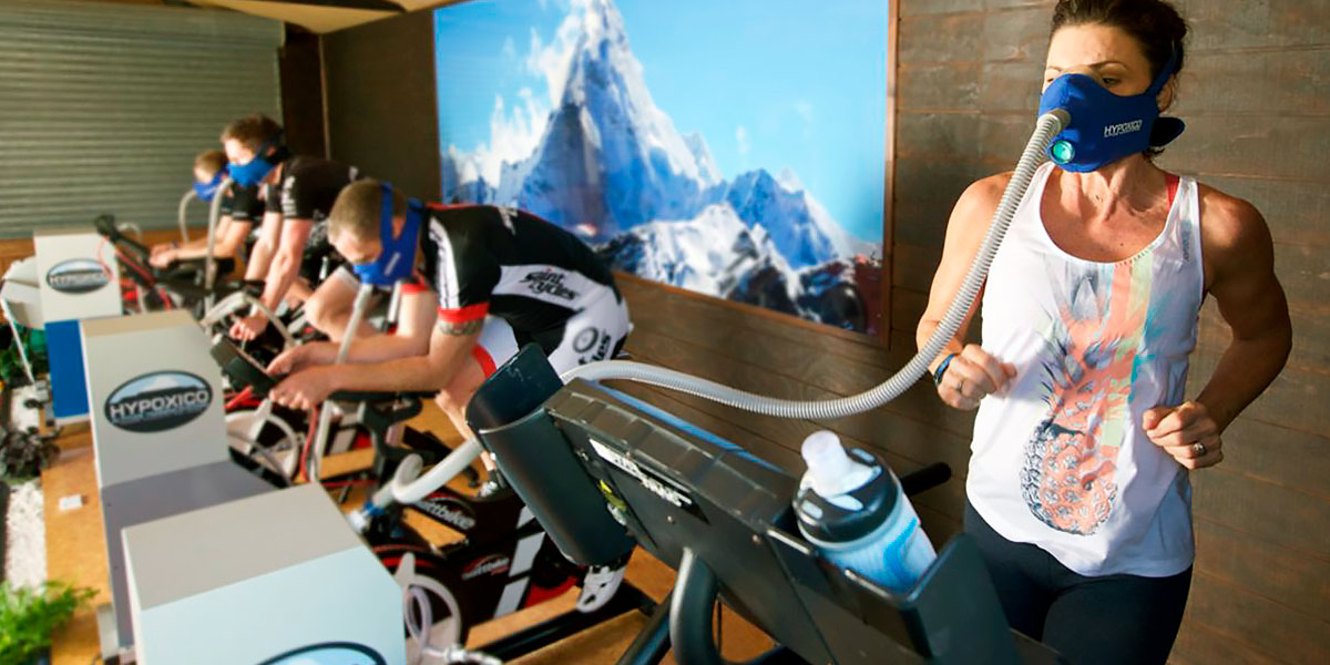 Indoor cycling in hypoxia