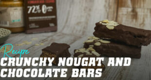 Crunchy Nougat and Chocolate Bars