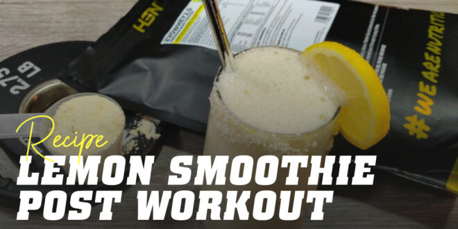 Post-Training Lemon Smoothies