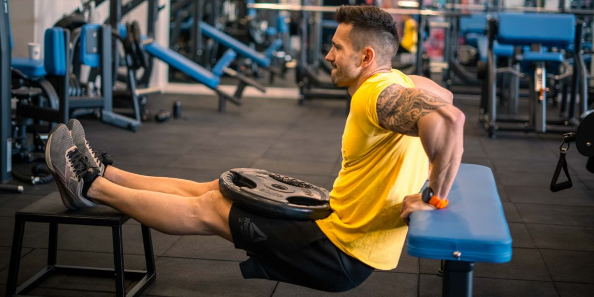 Tricep added weight - bicep and tricep exercises