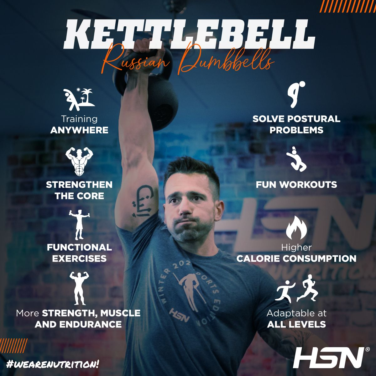 Go for it And try Kettlebells