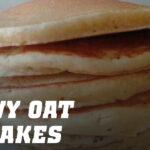 Snowy oat pancakes