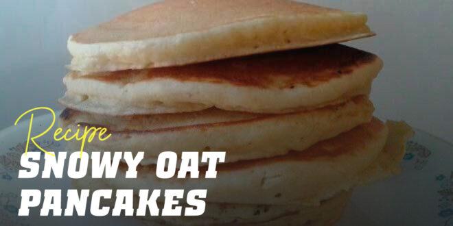 Oat Pancakes with Stiff Peak Egg Whites