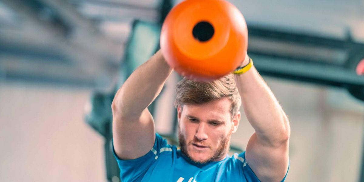 Functional exercise with a kettlebell