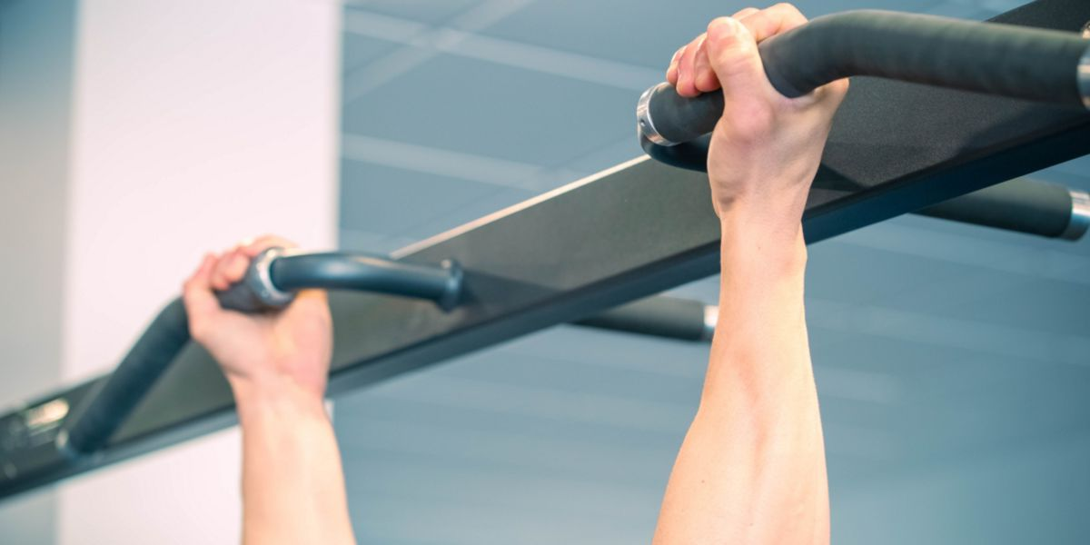 Pull-ups with supine grip