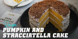 Squash and Stracciatella cake