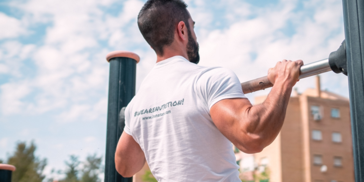 Pull-ups in the park