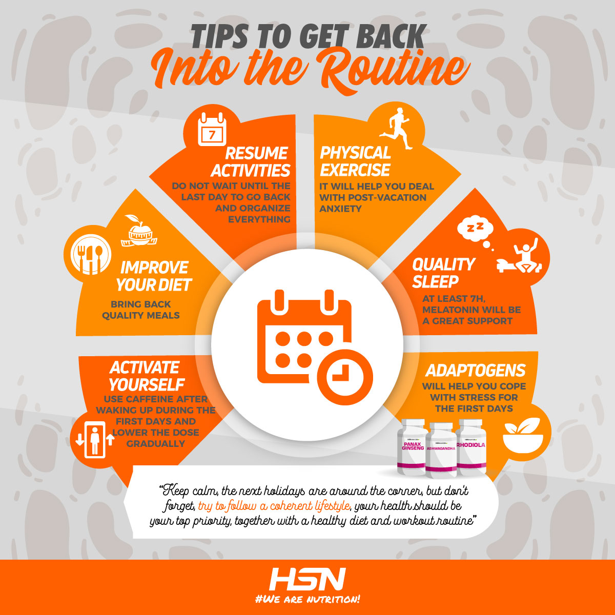 Tips for combating post-holiday syndrome