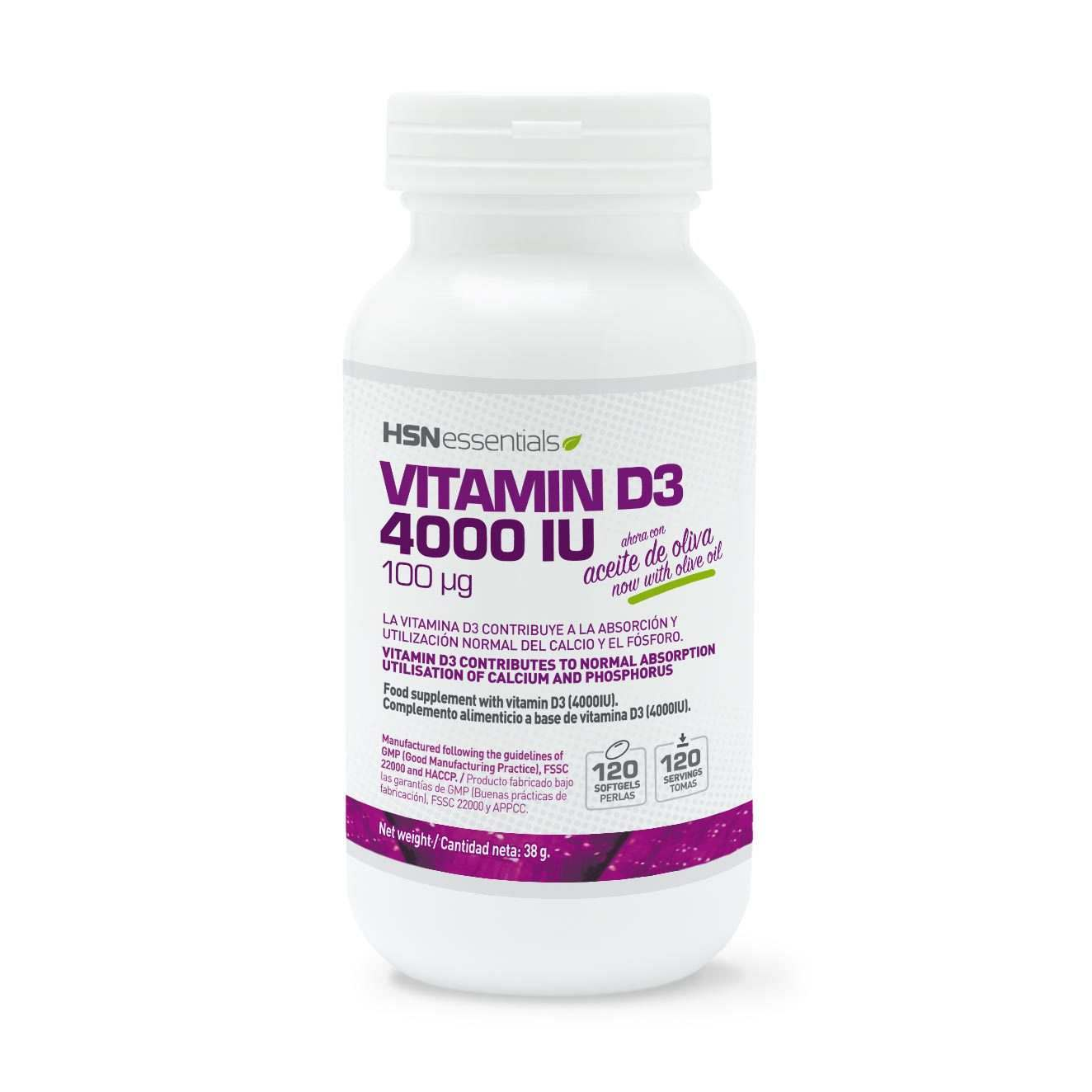 VITAMINE D3 4000IU - 120 softgels