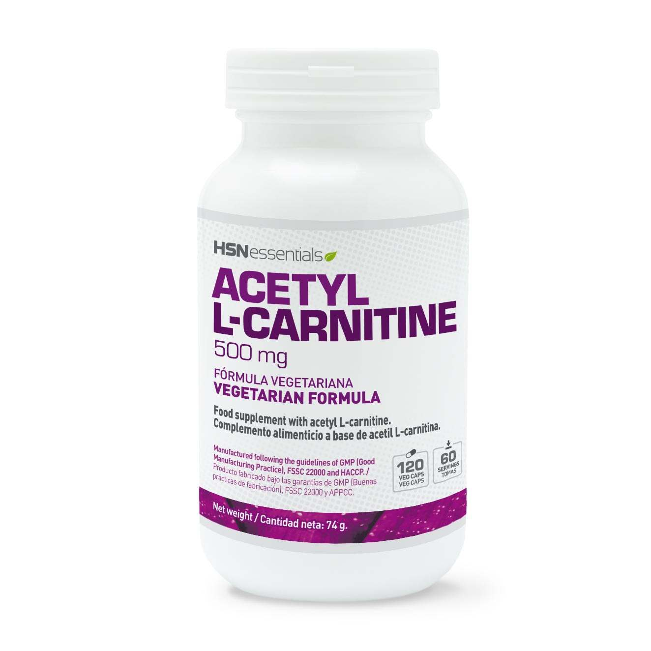 Acetil L-Carnitina 500mg - 120 veg caps