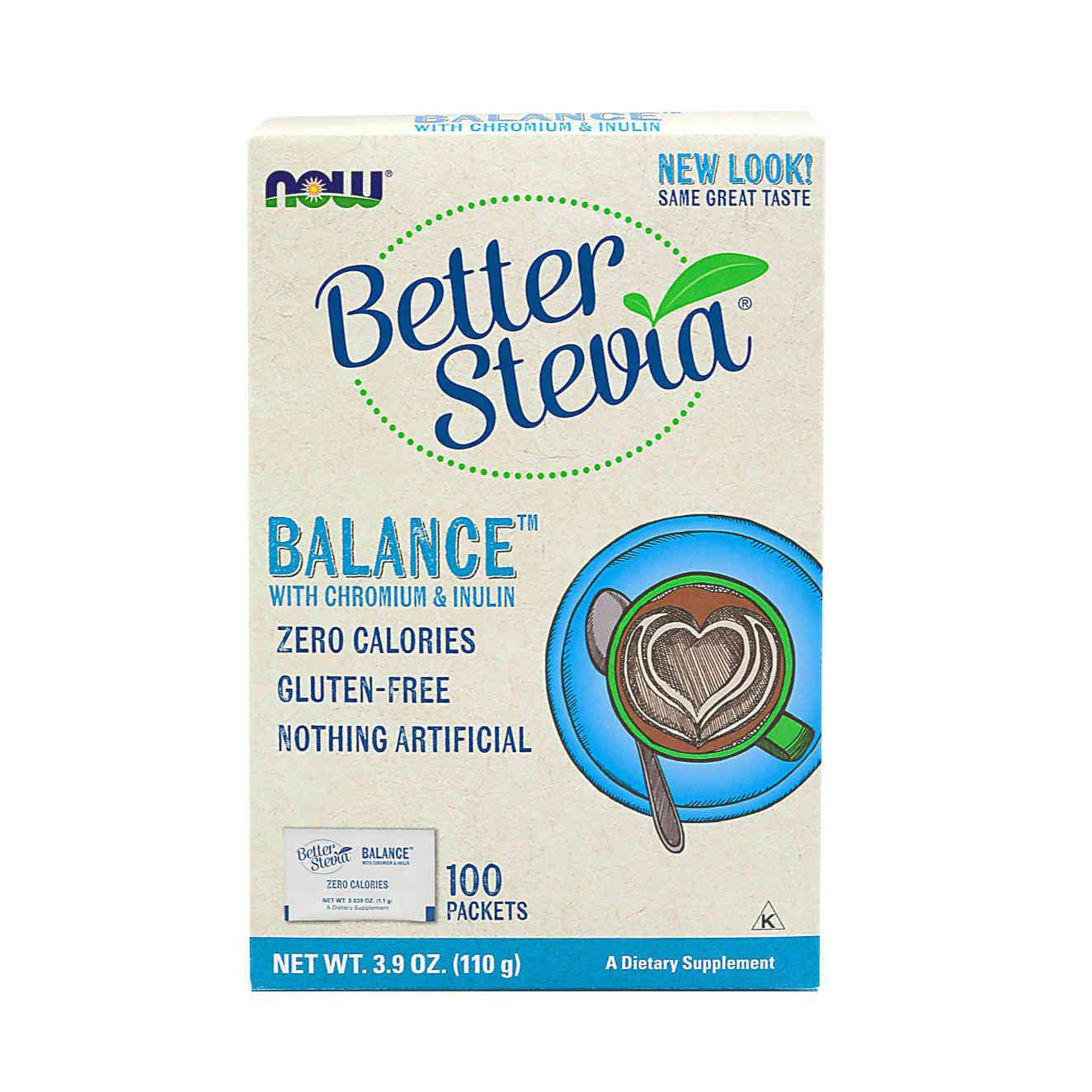 BETTER STEVIA SWEETENER BALANCE - 100 packets
