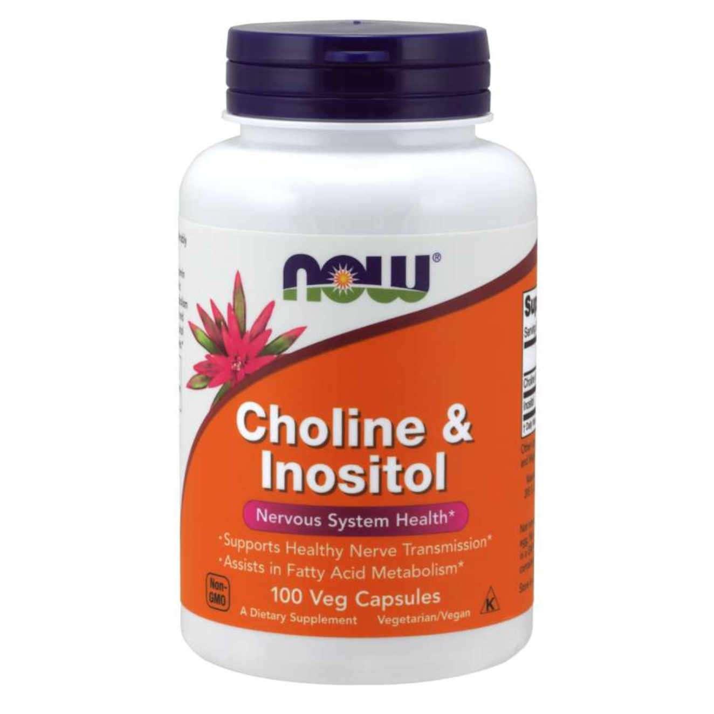 CHOLINE + INOSITOL 250mg/250mg - 100 veg caps