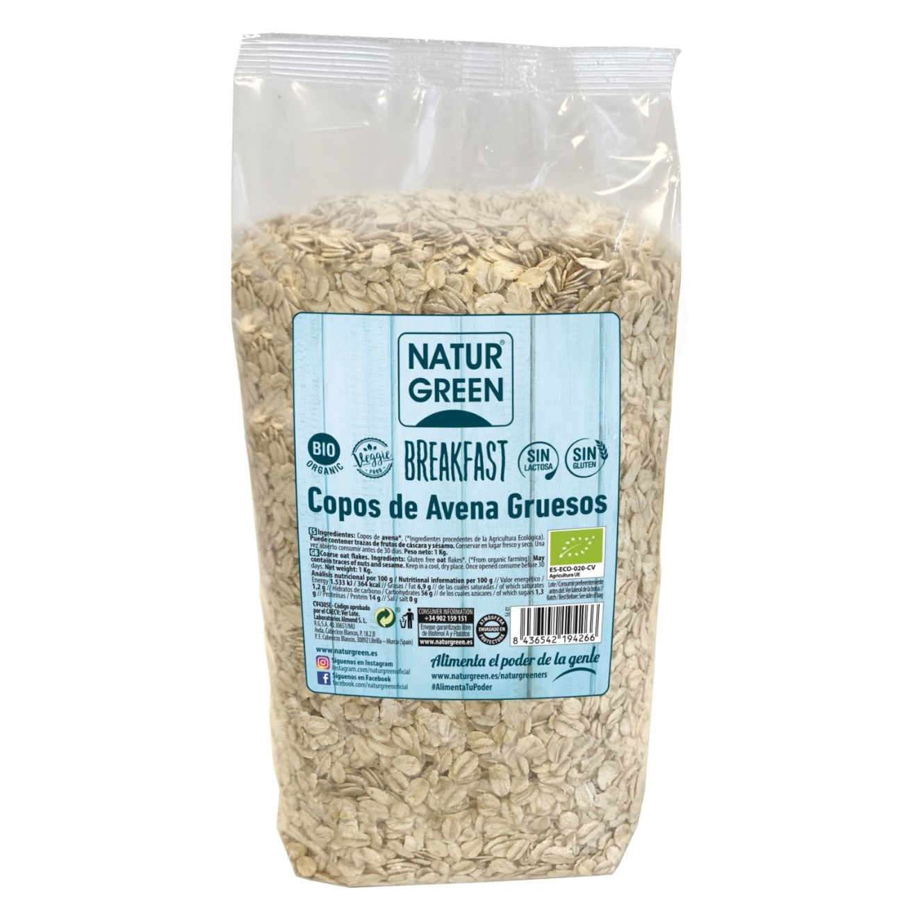 THICK BIO OAT FLAKES