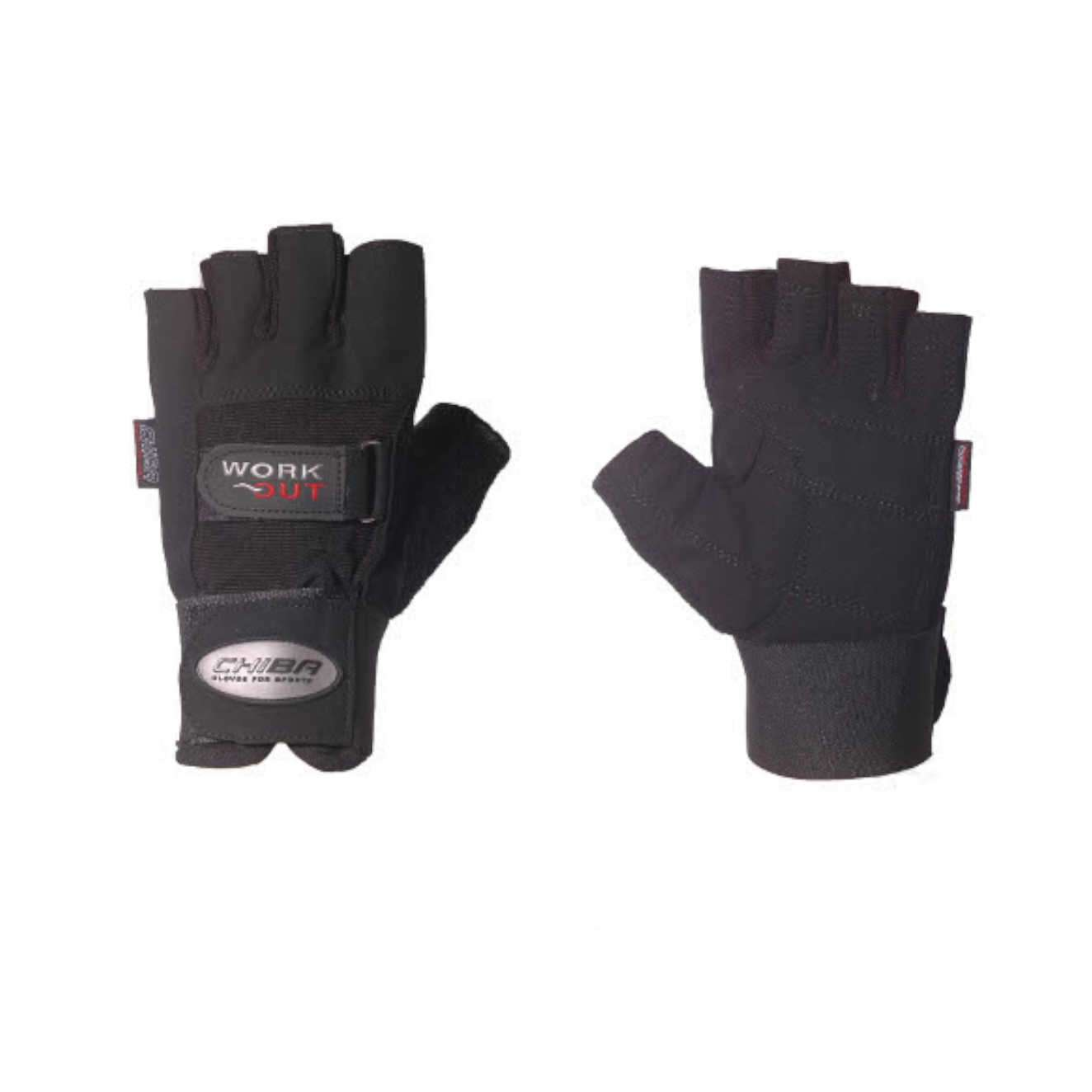 ELASTIC WRIST PROTECT TRAINING GLOVES BLACK