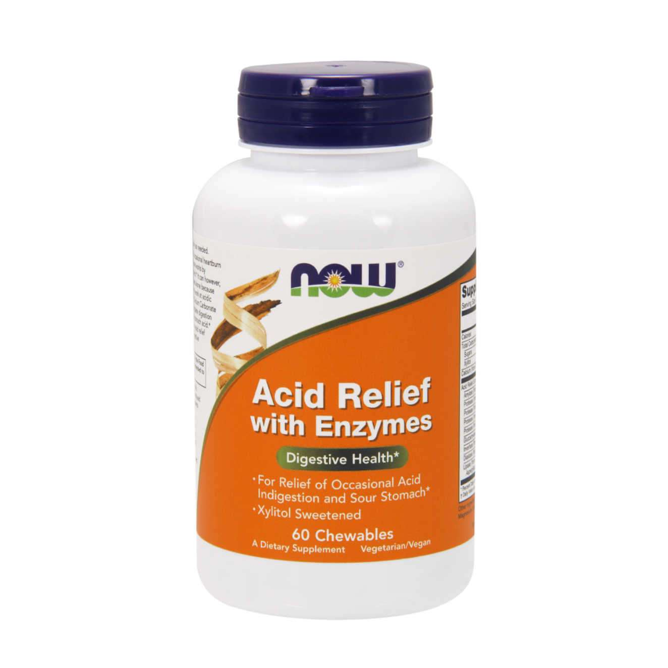ACID RELIEF WITH ENZYMES - 60 tabs masticables