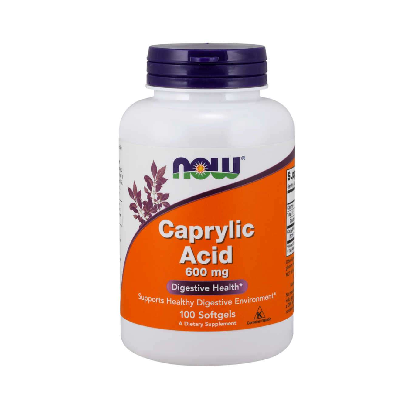 CAPRYLIC ACID 600mg - 100 softgels