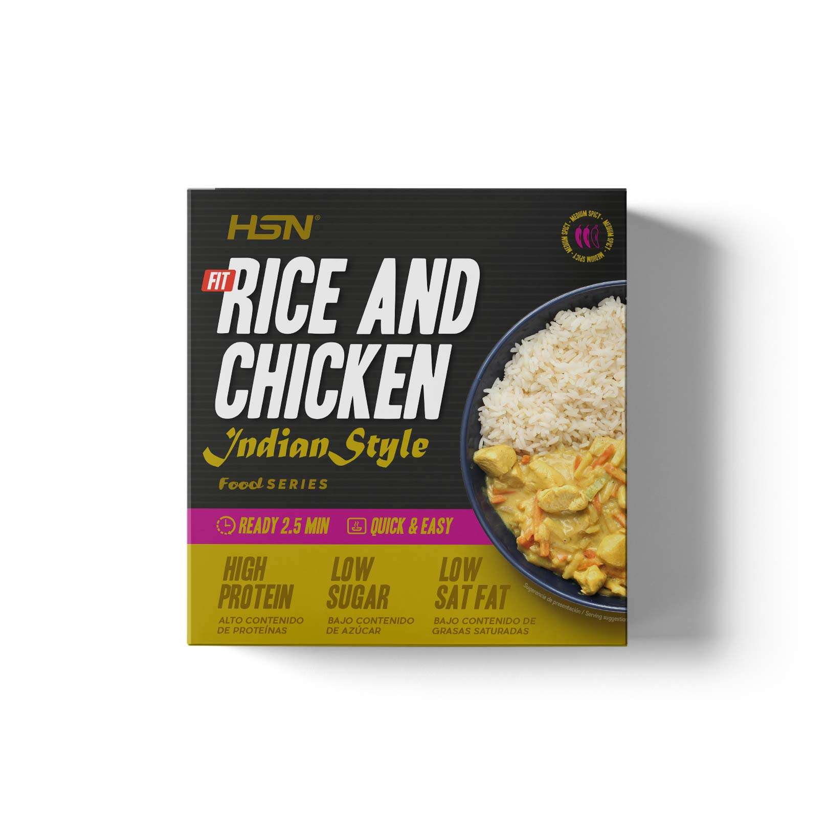 FIT ARROZ CON POLLO EN SALSA AL CURRY ESTILO HINDÚ - 420g