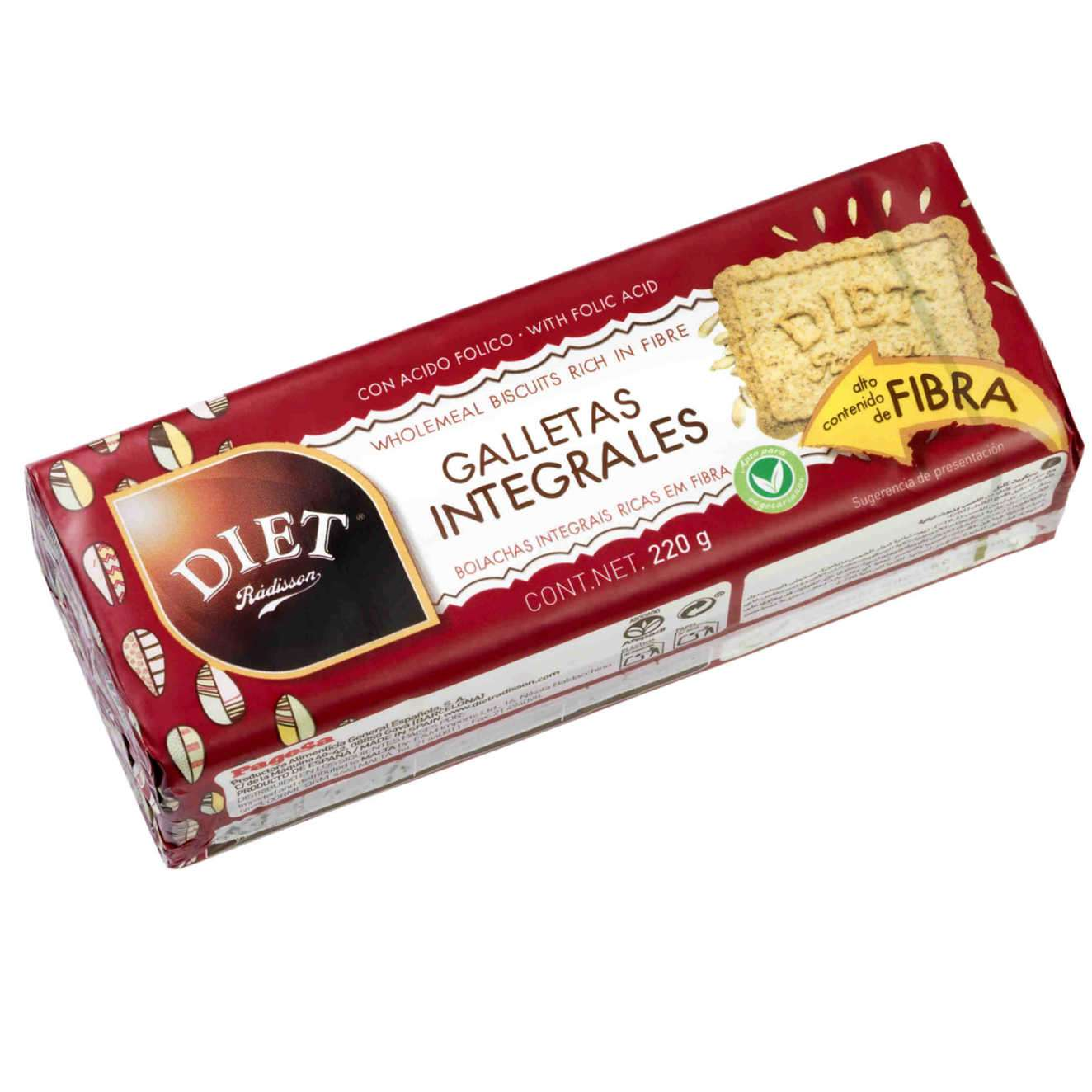 GALLETAS INTEGRALES - 220g