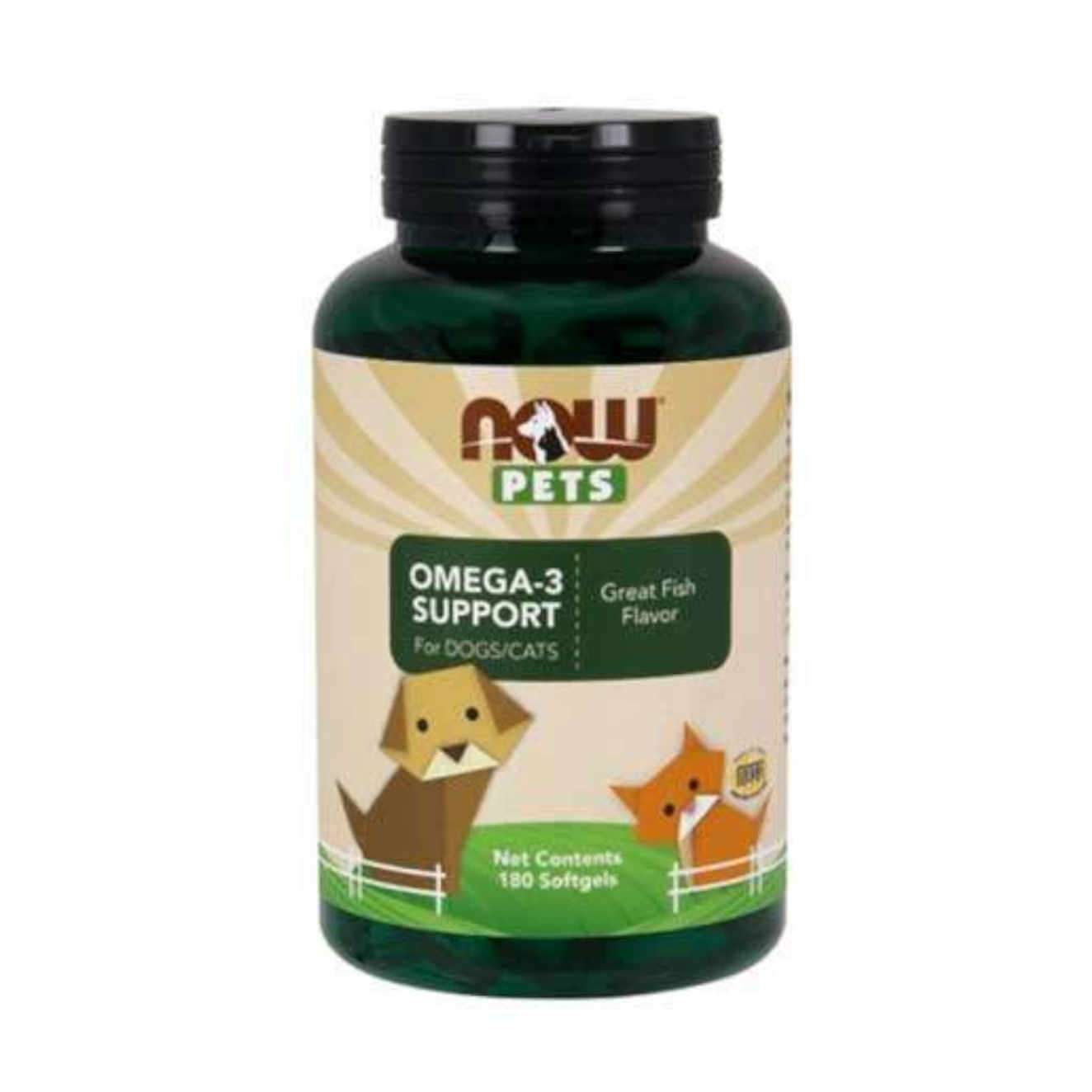 OMEGA-3 SUPPORT FOR DOGS/CATS - 180 softgels